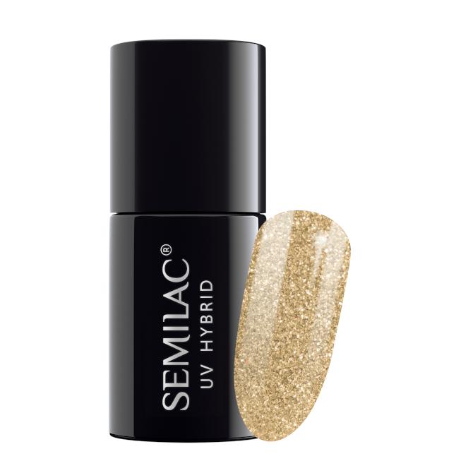 Semilac Lakier Hybrydowy 7 ml – 037 Gold Disco