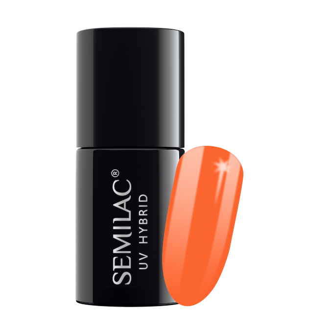 Semilac Lakier Hybrydowy 7 ml – 045 Electric Orange