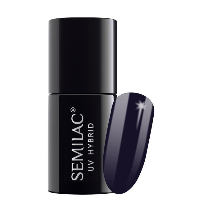 Semilac Lakier Hybrydowy 7 ml – 089 Black Plum