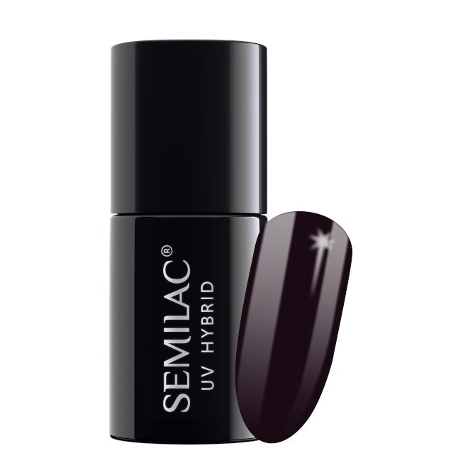 Semilac Lakier Hybrydowy 7 ml – 100 Black Purple